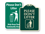 Do Not Litter Signs