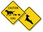 Dog Crossing Signs