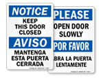 Bilingual Door Signs