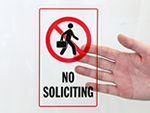 No Soliciting Door Decals