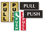 Push Pull Signs | Push Pull Door Signs