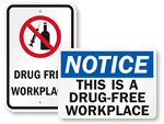 Drug-Free Workplace Signs