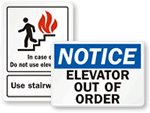 Elevator Safety Signs