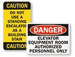 Elevator Safety Labels