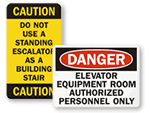 Elevator Safety Labels