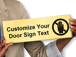 Custom Select-a-Color™ Semi-Printed Sign
