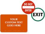 Entrance Door Signs & Labels