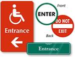 Entrance Door Signs