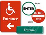 Entrance Door Signs