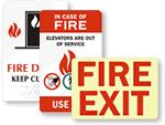 Fire Emergency Door Sign
