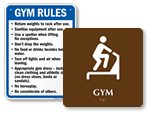 Fitness Room Signs