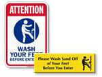 Foot Wash Signs