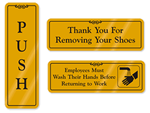 Gold DiamondPlate™ Signs