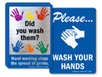 Wash Your Hands Signs