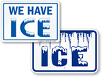 Ice for Sale Signs