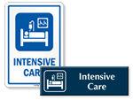 Intensive Care Door Signs