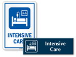 Intensive Care Door Signs