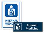Internal Medicine Door Signs