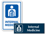 Internal Medicine Door Signs
