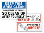 Keep Clean Signs