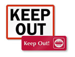 Keep Out Door Signs