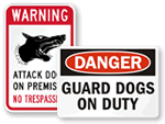 Guard Dog on Duty Signs