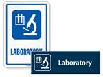 Laboratory Door Signs