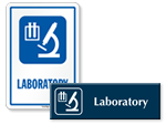 Laboratory Door Signs