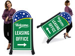 Leasing Sidewalk Signs