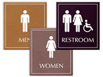 LeatherTex Bathroom Signs