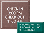 LeatherTex Office Door Signs