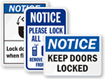 Lock Door Signs