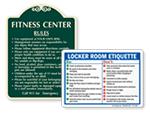 Locker Room Etiquette Signs