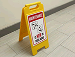 Maintenance Fold Up Floor Signs