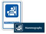 Mammography Door Signs