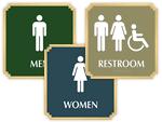 Marquis Bathroom Signs