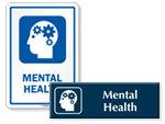 Mental Health Door Signs