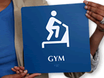 ADA Fitness Room Signs