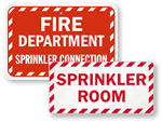 More Sprinkler Signs