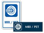 MRI / PET Door Signs