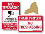 No Trespassing Signs for New York