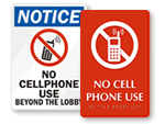 No Cell Phones Beyond Lobby