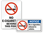 No E-Cigarette Signs