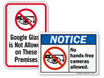 No Google Glass Signs