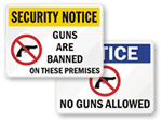 No Guns Signs / No Weapons Signs