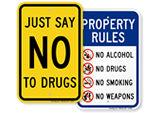 No Marijuana Signs