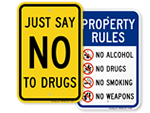 No Marijuana Signs