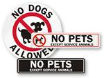 No Pets Decals