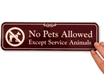 No Pets Allowed Signs