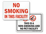 No Smoking Facility Signs